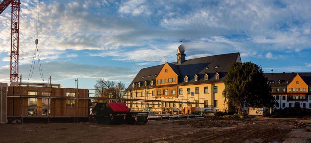 Holzbau für Collegium Academicum hat begonnen