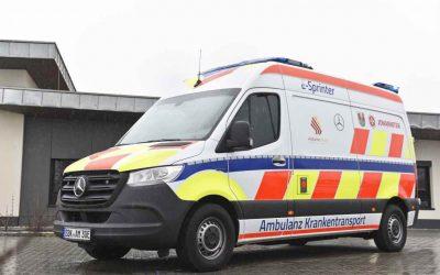 eSprinter von Mercedes-Benz Vans elektrifiziert den Krankentransport