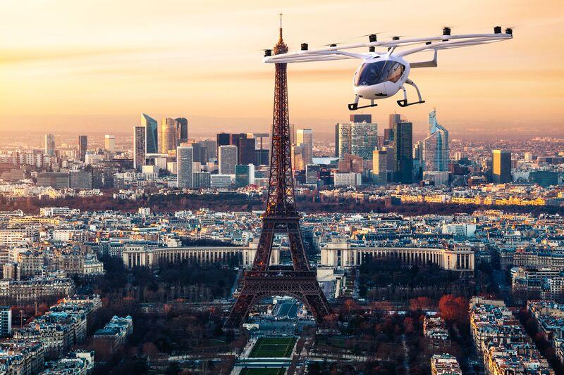 Volocopter fliegt über Paris